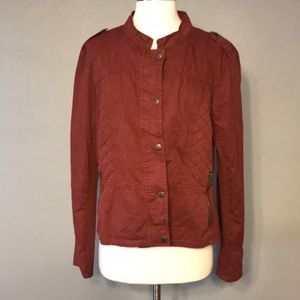 Maurices lightweight utility jacket XL russet hue